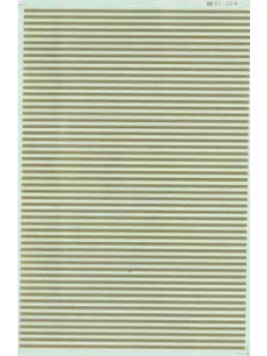 "microscale inc 91143 barricade stripes 6"" gold"