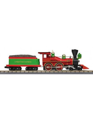 railking 17271 christmas 4-4-0 steam loco w/3