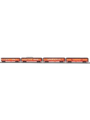 railking 68040 sp 60' strmlnd pass car set 4p