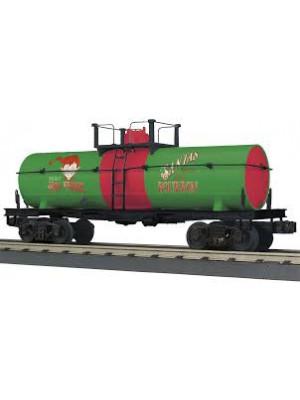railking 73547 christmas smoking tank car
