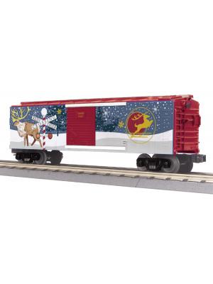railking 74936 north pole boxcar blnkng lghts