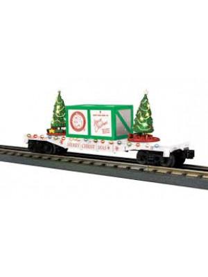 railking 76774 christmas flat w/trees white
