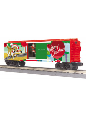 railking 79630 christmas oper. boxcar w/lghts