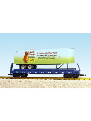 usa trains 17034 flatcar w/bear country trailer