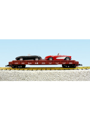 usa trains 1721d santa fe flatcar w/corvettes