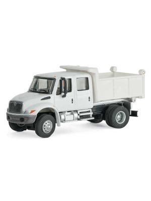 scenemaster 11636 int'l crew cab dump truck white