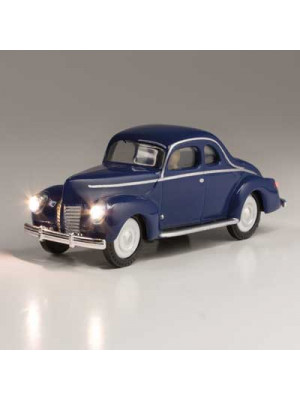woodland scenics 5598 blue coupe w/lights