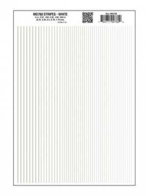 woodland scenics 760 dry transfer stripes white