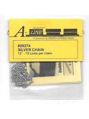 "a line 29274 silver chain 12"" 13 links per inch"