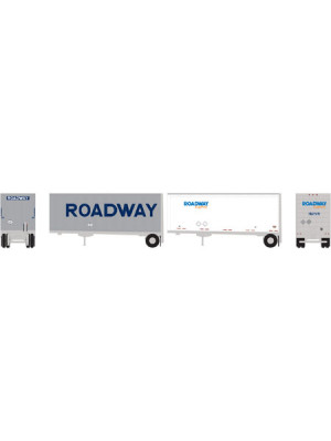 athearn 10756 roadway/exp 28' trlr/dolly 2pk