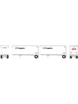 athearn 10758 xpo 28' trailer/dolly 2pk