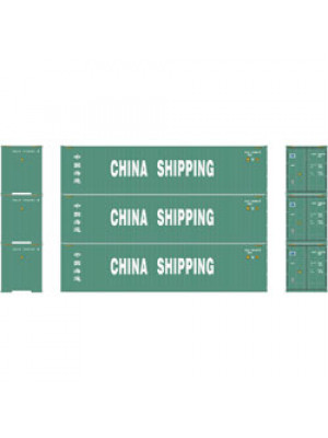athearn 29178 china 40' container 3pk
