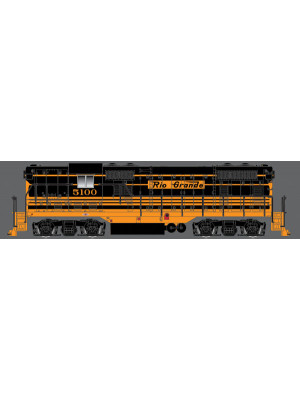 atlas 10002030 drgw gp7 #5100 dcc & sound