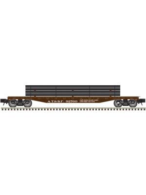 atlas sf trainman 52' flat car w/pipes