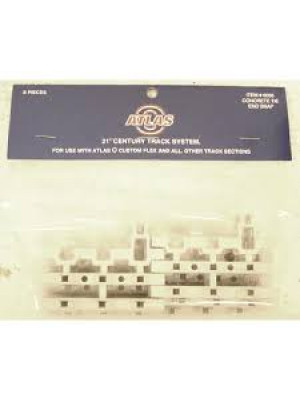 atlas 6055 s rail cement ties end snap section 8pk