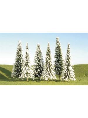 """bachmann 32154 pine trees w/snow 5-6-"""" 24pk"""