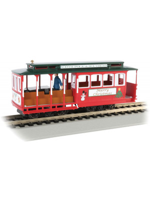 bachmann 60535 christmas cable car w/figures