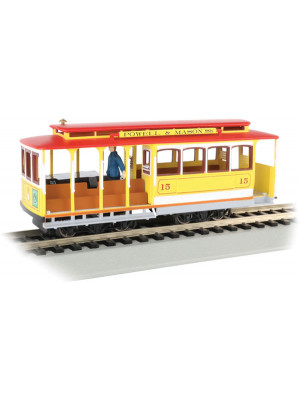 bachmann 60538 cable car ylw/red w/figure