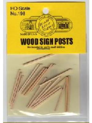 blair line 98 wooden sign posts