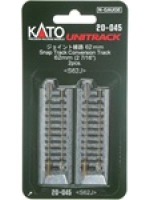 """kato 20-045 2-1/2"""" conversion track 2pk"""