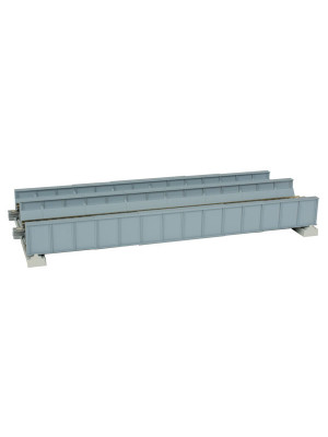 kato 20457 gray dbl track gray plate girder bridge
