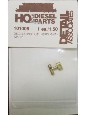 detail assoc 101008 dual brass mars osc headlight