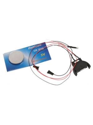 evans designs 3vfred red flasher led
