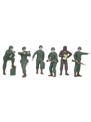 rail king 11059 army figures 6 piece set