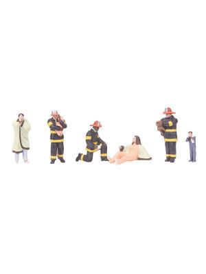 mth 30-11060 firemen & victims figure set