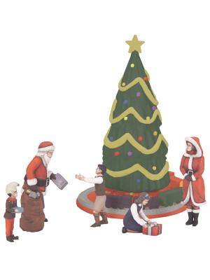 mth 30-11062 christmas 6 piece figure set