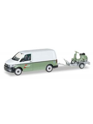 herpa 92760 vw t6 w/trailer & vespa