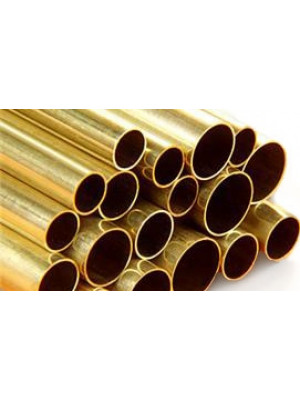 "Brass Tube - 12"" 30cm Long 3pk"