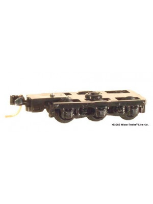 micro trains 1018 6 wheel passenger truck black