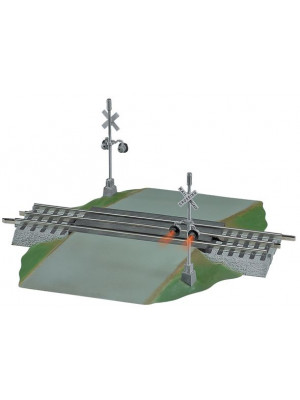 lionel 12052 fastrack grade crossing with flashers