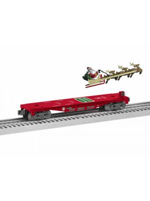 lionel 1928460 santa mobile rest stop flatcar