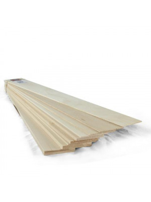 "midwest products 4304 1/8""x3""x24"" basswood"