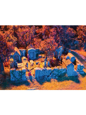 noch 58585 ho scale creepy graveyard