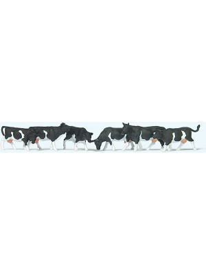 preiser 79228 cows black markings 6pk