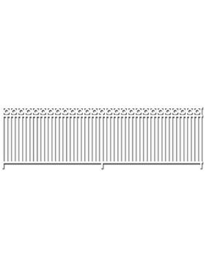 scenic express exo581 wrought iron fence