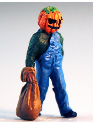 scenic express cg0633 pumpkin head o scale figure