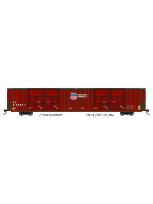 "trainworx 2807 up/sp 86'6"" auto parts box car"