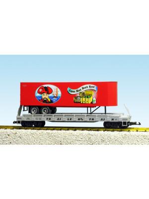 usa trains 17038  pirate brew flat w/trailer