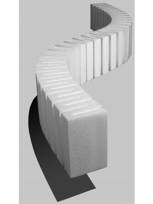 "woodland scenics st1409 4"" risers 2 pieces"