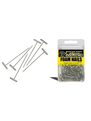 "woodland scenics st1432 foam nails 75  2"" nails"