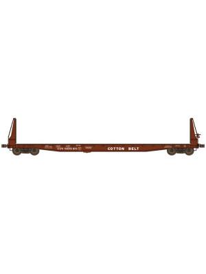 wheels of time 40059 cotton belt bulkhead flatcar