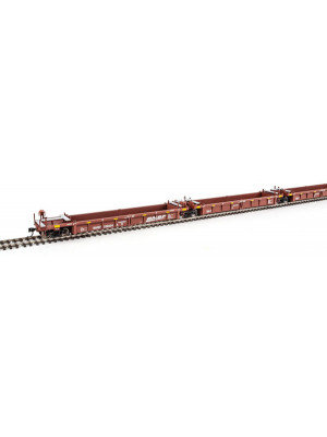 walthers mainline 55606 bnsf 40' well car 5 unit
