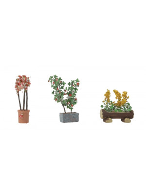 walthers 949-1085 large ornamental plants 3 pk