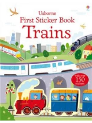 trains:first sticker book