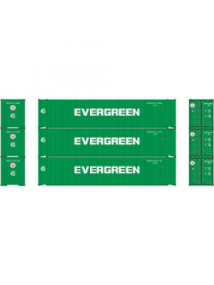 athearn 14281 evergreen 45' container 3pk