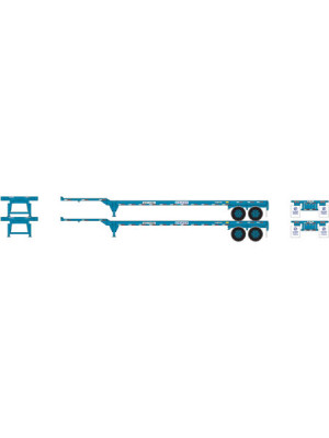 athearn 28841 hanjin 45' cont. chassis 2pk